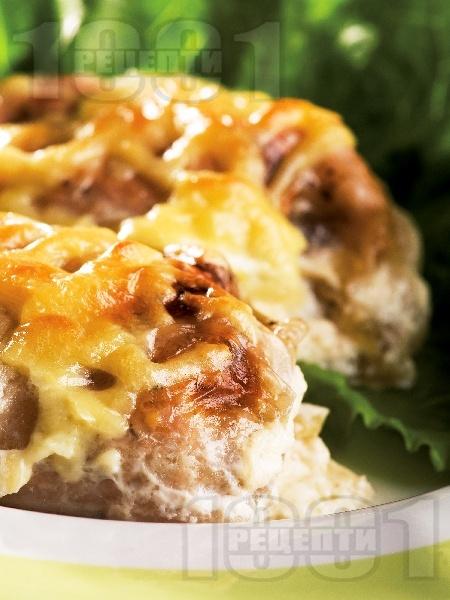 Зелеви сарми пълни само със свинско месо печени на фурна - снимка на рецептата